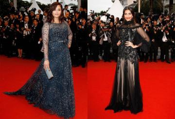 Aishwarya-Rai-And-Sonam-Kapoor-At-Cannes-2012