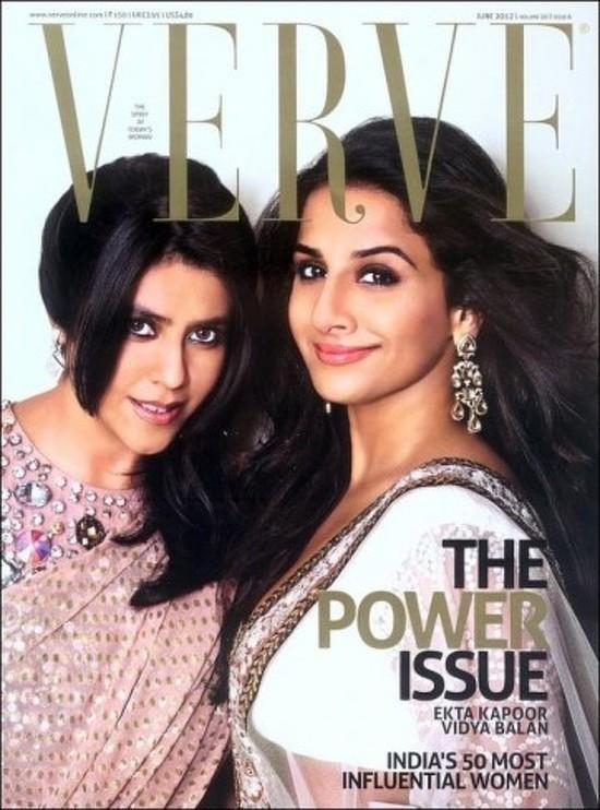 Vidya-Balan-Ekta-Kapoor-On-Verve-June-2012