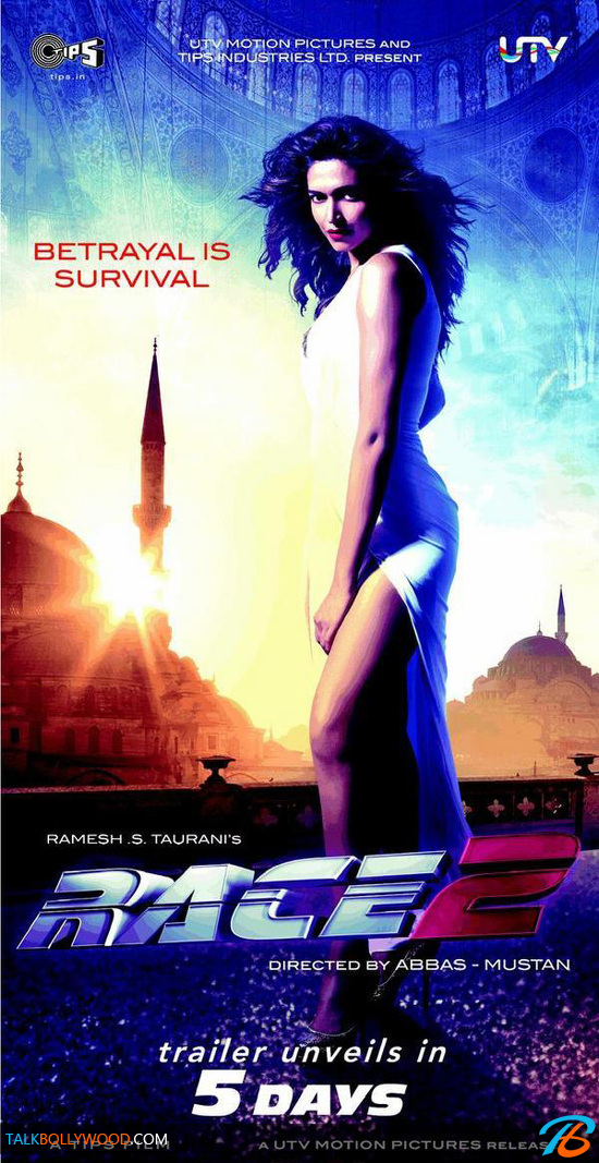 Race 2 poster featuring Deepika Padukone - Talk Bollywood