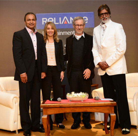 Amitabh-Bachchan-With-Steven-Spielberg