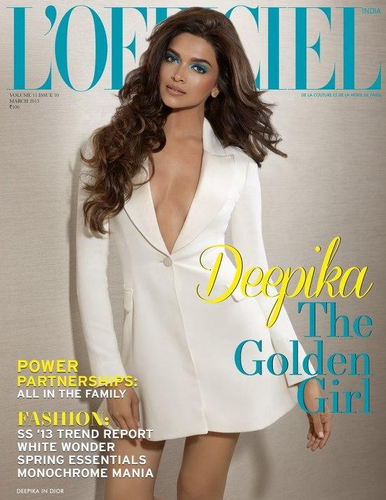 Deepika-Padukone-On- L'Officiel-India-Cover