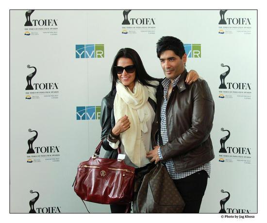 Neha-Dhupia-Manish-Malhotra--Arrive-In-Vancouver-For-TOIFA