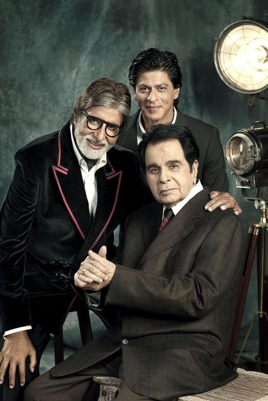 SRK-Amitabh-Bachchan-Dilip-Kumar-Filmfare-Photoshoot