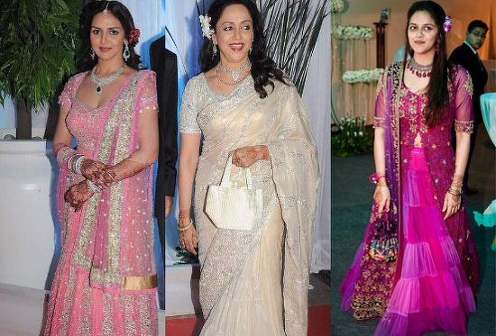Stars Dazzle At Esha Deols Wedding Reception Talk Bollywood